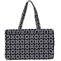 Cute Xoxo Pattern Canvas Work Bag by tarastyle