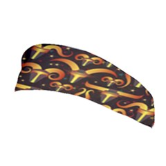 Stylised Horns Black Pattern Stretchable Headband by HermanTelo