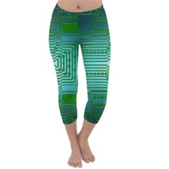 Board Conductors Circuits Capri Winter Leggings  by HermanTelo