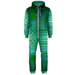 Board Conductors Circuits Hooded Jumpsuit (men)  by HermanTelo