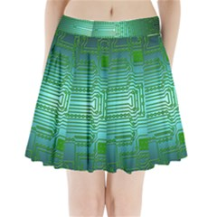 Board Conductors Circuits Pleated Mini Skirt by HermanTelo