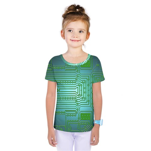 Board Conductors Circuits Kids  One Piece Tee by HermanTelo