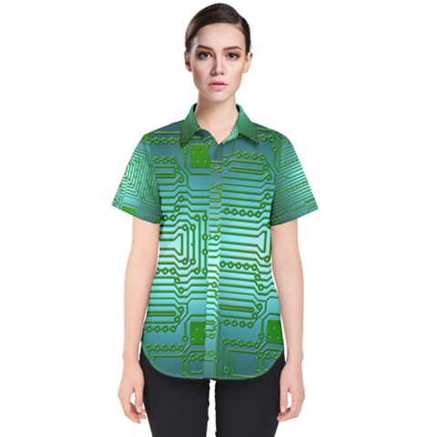 Board Conductors Circuits Women s Short Sleeve Shirt by HermanTelo