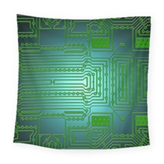 Board Conductors Circuits Square Tapestry (large)