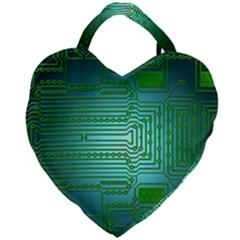 Board Conductors Circuits Giant Heart Shaped Tote