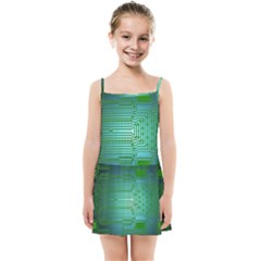 Board Conductors Circuits Kids  Summer Sun Dress by HermanTelo