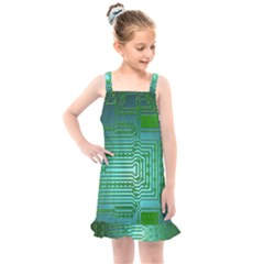 Board Conductors Circuits Kids  Overall Dress by HermanTelo