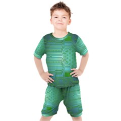 Board Conductors Circuits Kids  Tee And Shorts Set