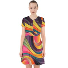 Abstract Colorful Background Wavy Adorable In Chiffon Dress by HermanTelo