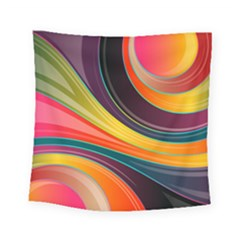 Abstract Colorful Background Wavy Square Tapestry (small) by HermanTelo