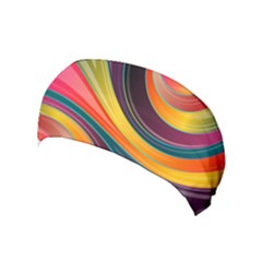 Abstract Colorful Background Wavy Yoga Headband by HermanTelo