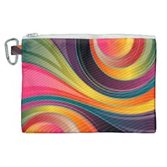 Abstract Colorful Background Wavy Canvas Cosmetic Bag (xl) by HermanTelo