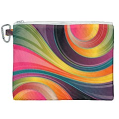 Abstract Colorful Background Wavy Canvas Cosmetic Bag (xxl) by HermanTelo