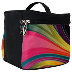 Abstract Colorful Background Wavy Make Up Travel Bag (big) by HermanTelo