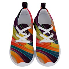 Abstract Colorful Background Wavy Running Shoes by HermanTelo