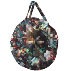 Abstract Texture Desktop Giant Round Zipper Tote by HermanTelo