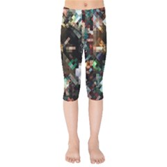 Abstract Texture Desktop Kids  Capri Leggings  by HermanTelo