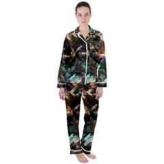 Abstract Texture Desktop Satin Long Sleeve Pyjamas Set by HermanTelo