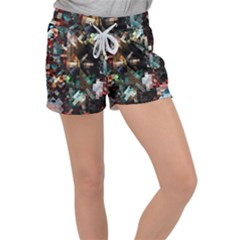 Abstract Texture Desktop Women s Velour Lounge Shorts
