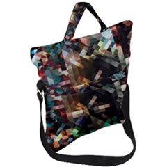 Abstract Texture Desktop Fold Over Handle Tote Bag by HermanTelo