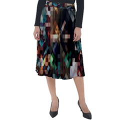 Abstract Texture Desktop Classic Velour Midi Skirt  by HermanTelo