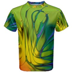 Abstract Pattern Lines Wave Men s Cotton Tee