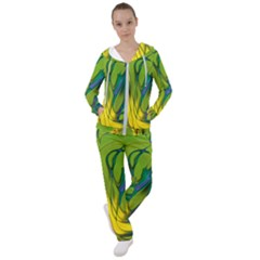 Abstract Pattern Lines Wave Women s Tracksuit