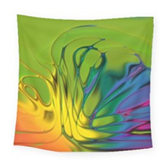 Abstract Pattern Lines Wave Square Tapestry (large) by HermanTelo