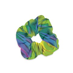 Abstract Pattern Lines Wave Velvet Scrunchie