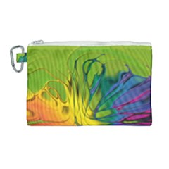 Abstract Pattern Lines Wave Canvas Cosmetic Bag (large)