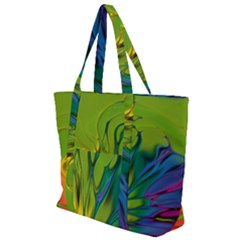 Abstract Pattern Lines Wave Zip Up Canvas Bag by HermanTelo