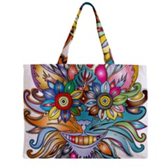 Anthropomorphic Flower Floral Plant Mini Tote Bag