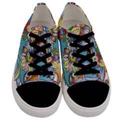 Anthropomorphic Flower Floral Plant Men s Low Top Canvas Sneakers