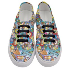 Anthropomorphic Flower Floral Plant Women s Classic Low Top Sneakers