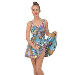 Anthropomorphic Flower Floral Plant Inside Out Casual Dress