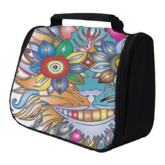 Anthropomorphic Flower Floral Plant Full Print Travel Pouch (small)