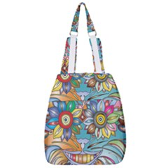 Anthropomorphic Flower Floral Plant Center Zip Backpack