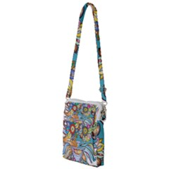 Anthropomorphic Flower Floral Plant Multi Function Travel Bag