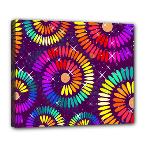 Abstract Background Spiral Colorful Deluxe Canvas 24  X 20  (stretched)