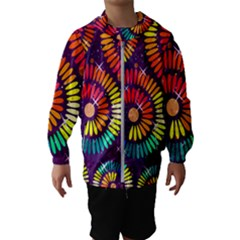 Abstract Background Spiral Colorful Kids  Hooded Windbreaker