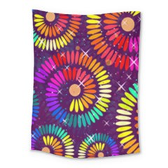Abstract Background Spiral Colorful Medium Tapestry by HermanTelo