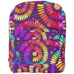 Abstract Background Spiral Colorful Full Print Backpack