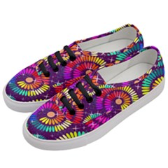 Abstract Background Spiral Colorful Women s Classic Low Top Sneakers by HermanTelo
