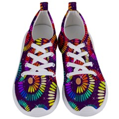 Abstract Background Spiral Colorful Women s Lightweight Sports Shoes