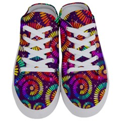 Abstract Background Spiral Colorful Half Slippers