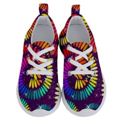 Abstract Background Spiral Colorful Running Shoes