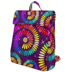 Abstract Background Spiral Colorful Flap Top Backpack by HermanTelo