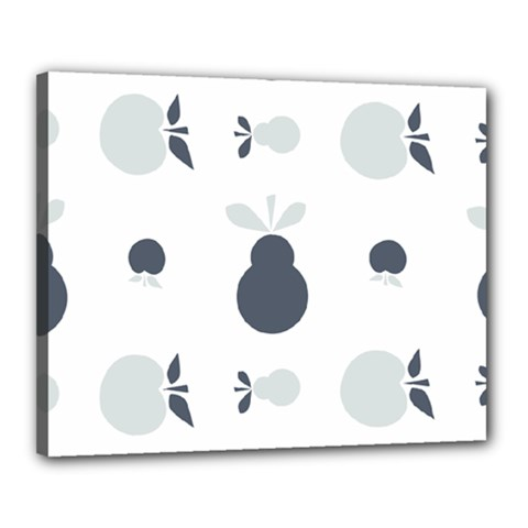 Apples Pears Continuous Canvas 20  X 16  (stretched) by HermanTelo