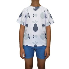 Apples Pears Continuous Kids  Short Sleeve Swimwear by HermanTelo