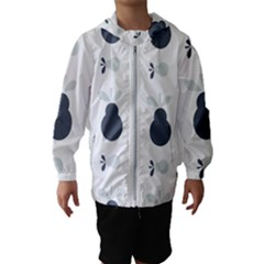 Apples Pears Continuous Kids  Hooded Windbreaker